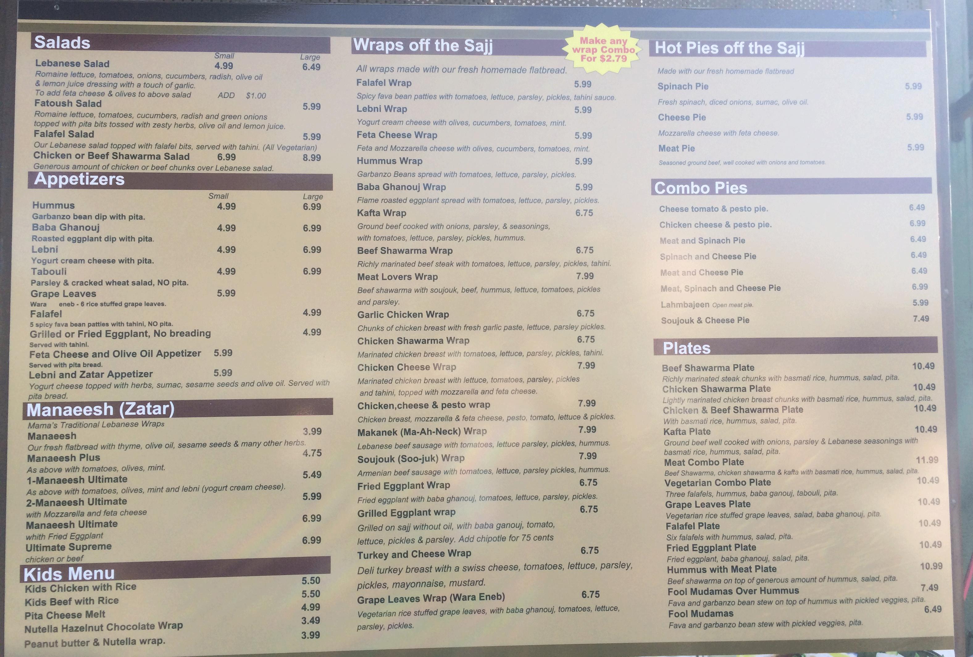 Mamas bakery north park menu evans menus outside menu altavistaventures Image collections